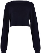 Blackburd Soft Navy Crop Jumper