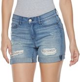 Juicy Couture Women's Ripped Glitter Jean Shorts