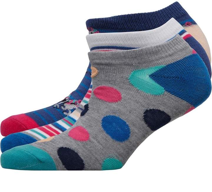 Fruit Cake Fruitcake Womens Three Pack Printed Trainer Liner Socks Horse Stripe/Multi Dot/Multi Stripe