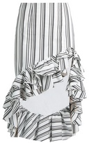 Caroline Constas Striped ruffled-hem pencil skirt