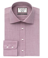 Thomas Pink Ernest Texture Slim Fit Button Cuff Shirt