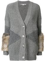 Stella McCartney fur trimmed cardigan - women - Silk/Modacrylic/Polyamide/Virgin Wool - 40