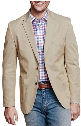Johnston & Murphy Washed Cotton Blazer (Khaki) Men's Clothing