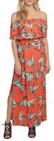 1 State Printed Off-Shoulder Maxi Dress