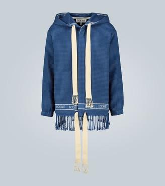Loewe Marino fringed hooded jacket