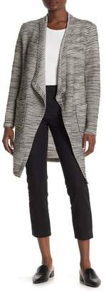 Bagatelle Draped Front Woven Knit Cardigan