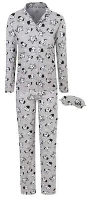 Disney George 101 Dalmatians Pyjamas with Eye Mask Gift Set