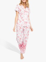 Cyberjammies Nora Rose By Nora Rose by Portia Floral Print Pyjama Set, Pink/Multi