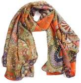 Mikey Store Women Girl Chiffon Printed Silk Long Soft Scarf Shawl Scarf