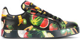 Dolce & Gabbana fruit print sneakers - women - Leather/rubber - 35