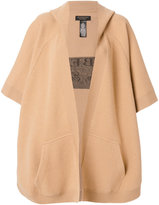 Burberry hooded logo cape - women - Polyamide/Cashmere/Wool - One Size