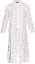 Juliet Dunn Hand-embroidered cotton shirtdress