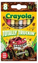 Crayola ; Pick Your Pack Crayons, 8ct - Totally Truckin'