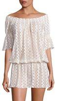 Melissa Odabash Off-the-Shoulder Lace Short Dress