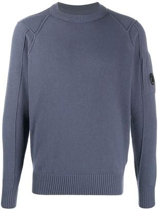 C.P. Company Logo-Plaque Knitted Sweatshirt