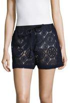 MICHAEL Michael Kors Crochet Drawstring Shorts