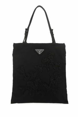 Prada Bead Embroidered Tote Bag