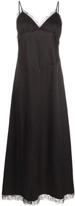 MM6 MAISON MARGIELA Lace-Trim Long Dress