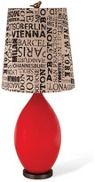 Foreside Home & Garden Classic Red Table Lamp