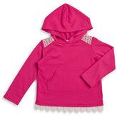 Pinc Premium Girls 2-6x Lace Trim Hoodie