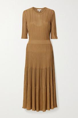 Casasola CASASOLA - Ribbed-knit Midi Dress - Tan