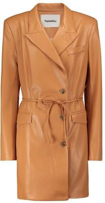 Nanushka Remi faux leather minidress