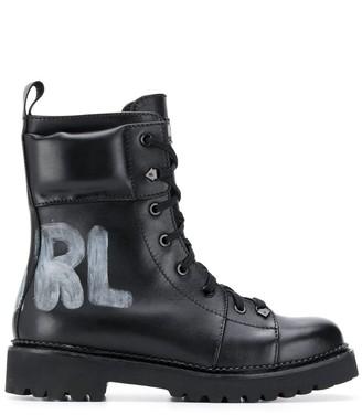Karl Lagerfeld Paris Kadet II lace up boots