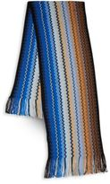 Missoni Zig-Zag Wool Blend Fringed Multi-Tone Scarf