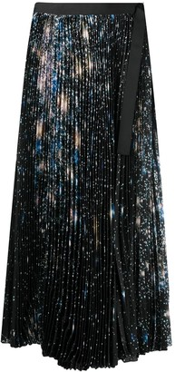 Sacai Sequin Embellished Pleated Skirt