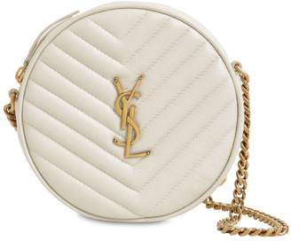 Saint Laurent JADE ROUND QUILTED LEATHER CAMERA BAG