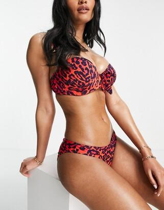 Pour Moi? Pour Moi Fuller Bust Heatwave bikini top in animal print