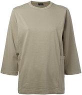 Joseph cropped sleeves jumper - women - Cotton/Spandex/Elastane - XS
