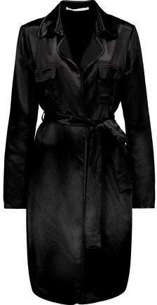 Diane von Furstenberg Blaine Belted Satin Trench Coat
