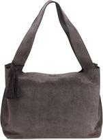 The Row Duplex Suede Satchel Bag