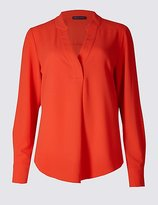 M&S Collection Popover Notch Neck Long Sleeve Tunic