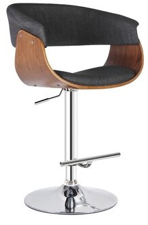 AC Pacific Adjustable Height Swivel Bar Stool AC Pacific Color: Walnut