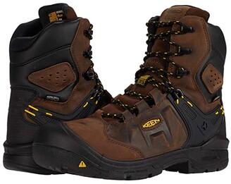 Keen Dover 8 Insulated Waterproof Boot (Carbon-fiber Toe) (Dark Earth/Black) Men's Shoes