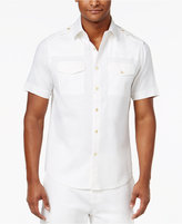 Sean John Men's Big & Tall Dual Front Pocket Linen Shirt