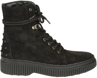 Tod's Tods Studded Lace-up Boots