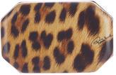Roberto Cavalli Leopard Leather Clutch w/ Tags