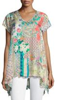 Johnny Was Azzy Printed Trapeze Top, Plus Size