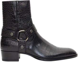 Saint Laurent Wyatt Harness Ankle Boots