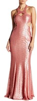 Minuet Long Sequin Body Con Dress
