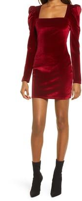 Reformation Lunar Long Sleeve Velvet Dress