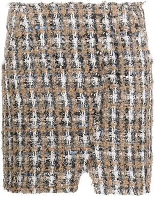 IRO Plaid Tweed Mini Skirt