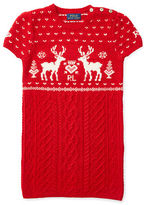 Ralph Lauren Reindeer Aran Sweater Dress