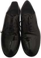 Christian Dior Lace-up black patent leather loafers