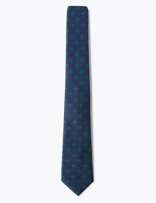 Marks and Spencer Shamrock Woven Slim Tie