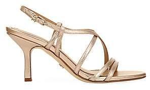 Sam Edelman Women's Paislee Metallic Leather Slingback Sandals