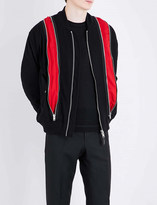 Givenchy Zip-panelled wool-blend bomber jacket